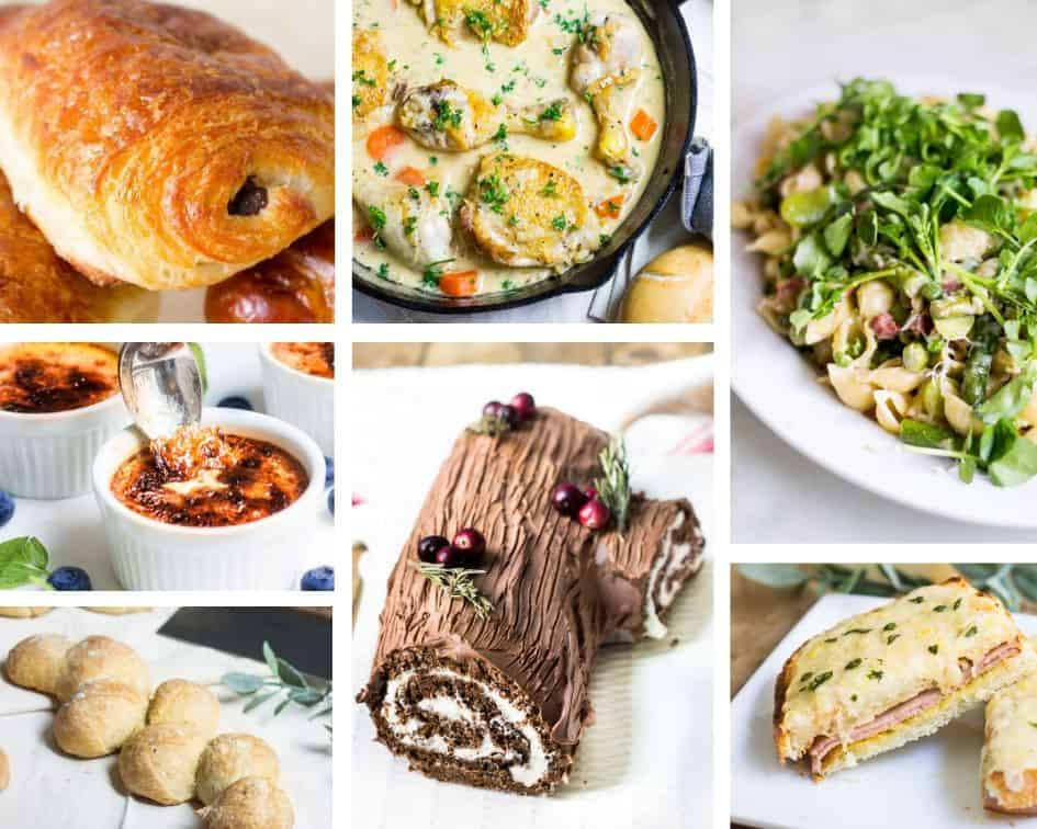 collage of French recipes